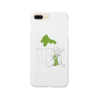 かき氷ちゃん(メロン) Smartphone cases