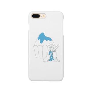 かき氷ちゃん(ブルーハワイ) Smartphone cases
