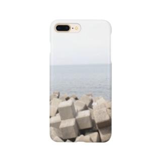 ブロックと海 Smartphone cases