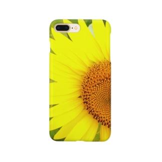 curl_curryのサンフラワー Smartphone cases