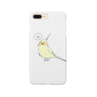 サのゆるいおかめ Smartphone cases