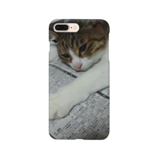 のびのびネコネコ Smartphone cases