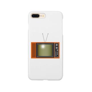 illust_designs_labのレトロな昭和の可愛いテレビのイラスト Smartphone cases