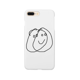 ampm28のtwo face one mouth Smartphone cases