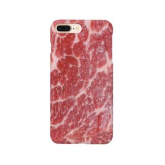 年末に食べた肉 Smartphone cases