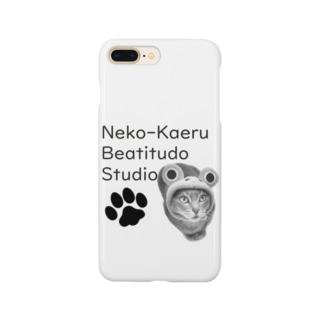 コスプレ猫のカエルさん Smartphone cases