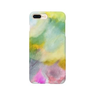 ののの絵_03_にじ Smartphone cases