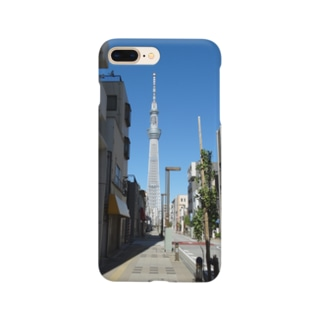 東京都:タワービュー通りの風景写真 Tokyo: Tower View-dori St. Smartphone Case