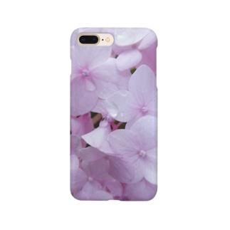ピンクの紫陽花。 Smartphone cases