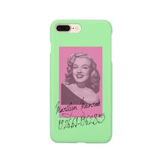ピンクとグリーンのモンロー Smartphone cases