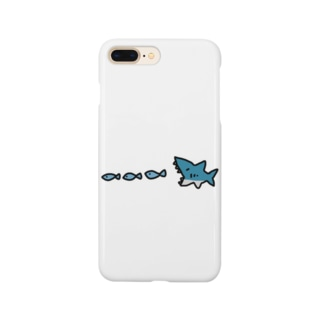サメの食事 Smartphone cases