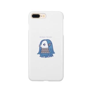 アマビエ・ブルー Smartphone cases