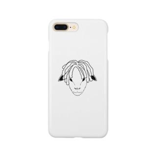 ドレッドヒツジ (モノトーン) Smartphone cases