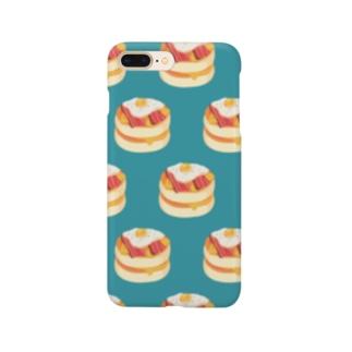 ベーコンエッグパンケーキ[水色] Smartphone cases