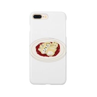 かしわ天〜たるジュレ(パプリカ風味)withわさわさ葉っぱ Smartphone cases