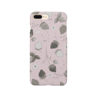 pink strawberry Smartphone cases