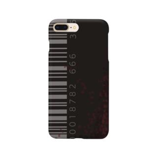 「シンプルにバーコードデザイン Smartphone cases