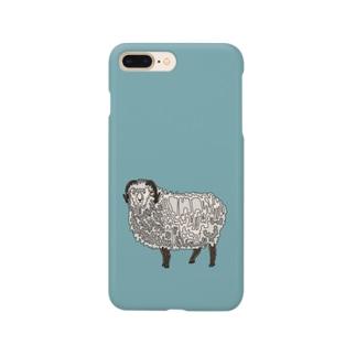 ただの羊さん Smartphone cases