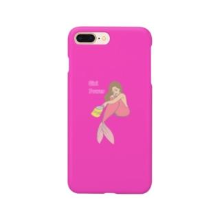 マーメイドガール(マゼンダ) Smartphone cases