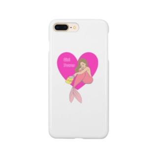 マーメイドガール Smartphone cases