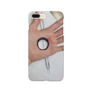 手の覗き穴 Smartphone cases