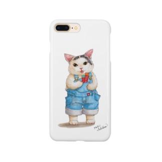 もけけ工房 SUZURI店のナナクロのポッケ Smartphone cases