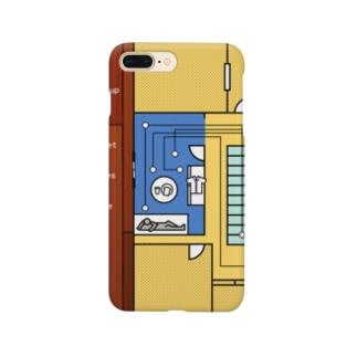 モーニングルーティン 黄 Smartphone cases