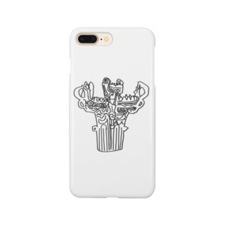 1641とりわけうどんのもしゃ火焔型土器 Smartphone cases