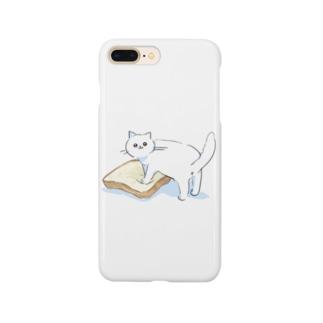 パンをこねるぴえんねこ Smartphone cases