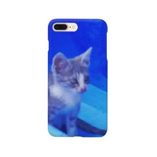 ひつじのアトリエ【公式】のモロッコでたたずむ猫さん Smartphone cases