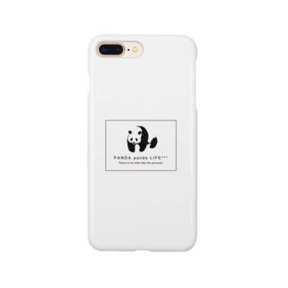 のしのしパンダ スクエア Smartphone cases
