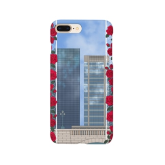 薔薇とビル Smartphone cases
