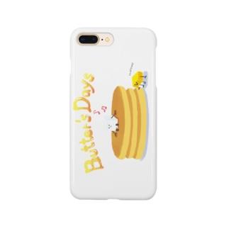 バター君の日常 Smartphone cases