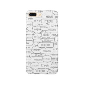 ワールドワイドにゃー Smartphone cases