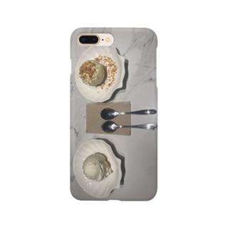 バニラアイスとココナツアイス Smartphone cases