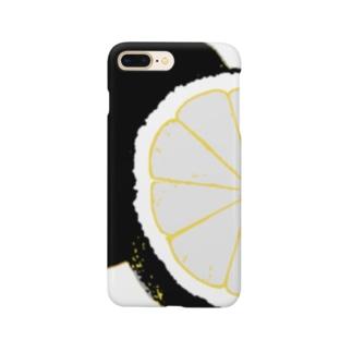 檸檬 black Smartphone cases