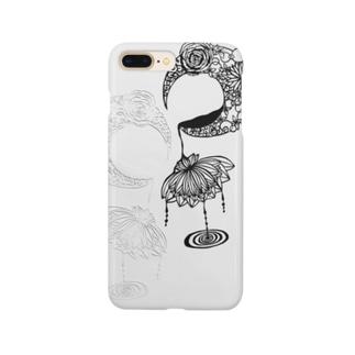 ちぇしゃゑもんの蓮と月 影 Smartphone cases
