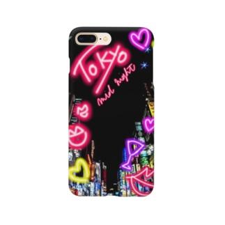 サラがスズリを始めましたのTokyo midnight Smartphone cases