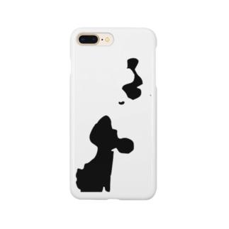 星鹿町シルエット Smartphone cases