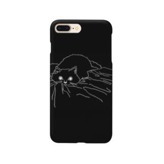うつぶせ(白抜きver.) Smartphone cases
