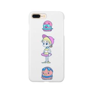 ぷいん/ニューレトロのタコとタコと女のコ Smartphone cases