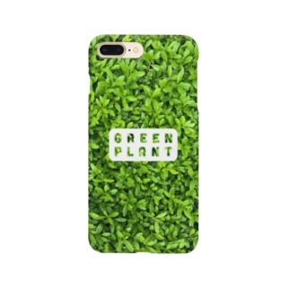 GREEN PLANT(スマホケース版) Smartphone cases