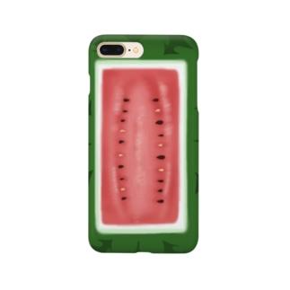 シカクイスイカ Smartphone cases