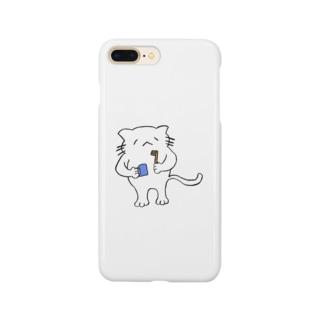 kisyaの歯みがきするねこ Smartphone cases