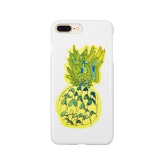 パイナップル〜7歳息子の年長時の作品〜 Smartphone cases