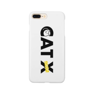 CAT Xロゴ WHITE Smartphone cases