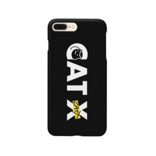 CAT Xロゴ BLACK Smartphone cases