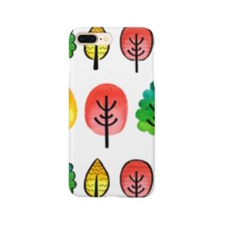 水彩イラストグッズの北欧風水彩の木 Smartphone cases