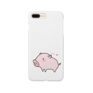 告白ブタさん Smartphone cases