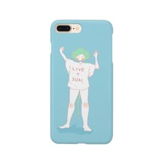 『LIVE T SUKI』ライブTのねこぱんちゃん Smartphone cases